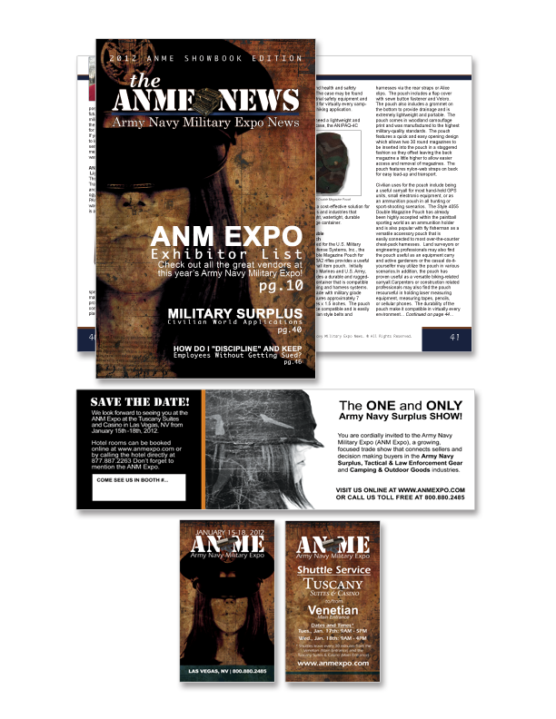 Army Navy Military Expo – Print Collateral