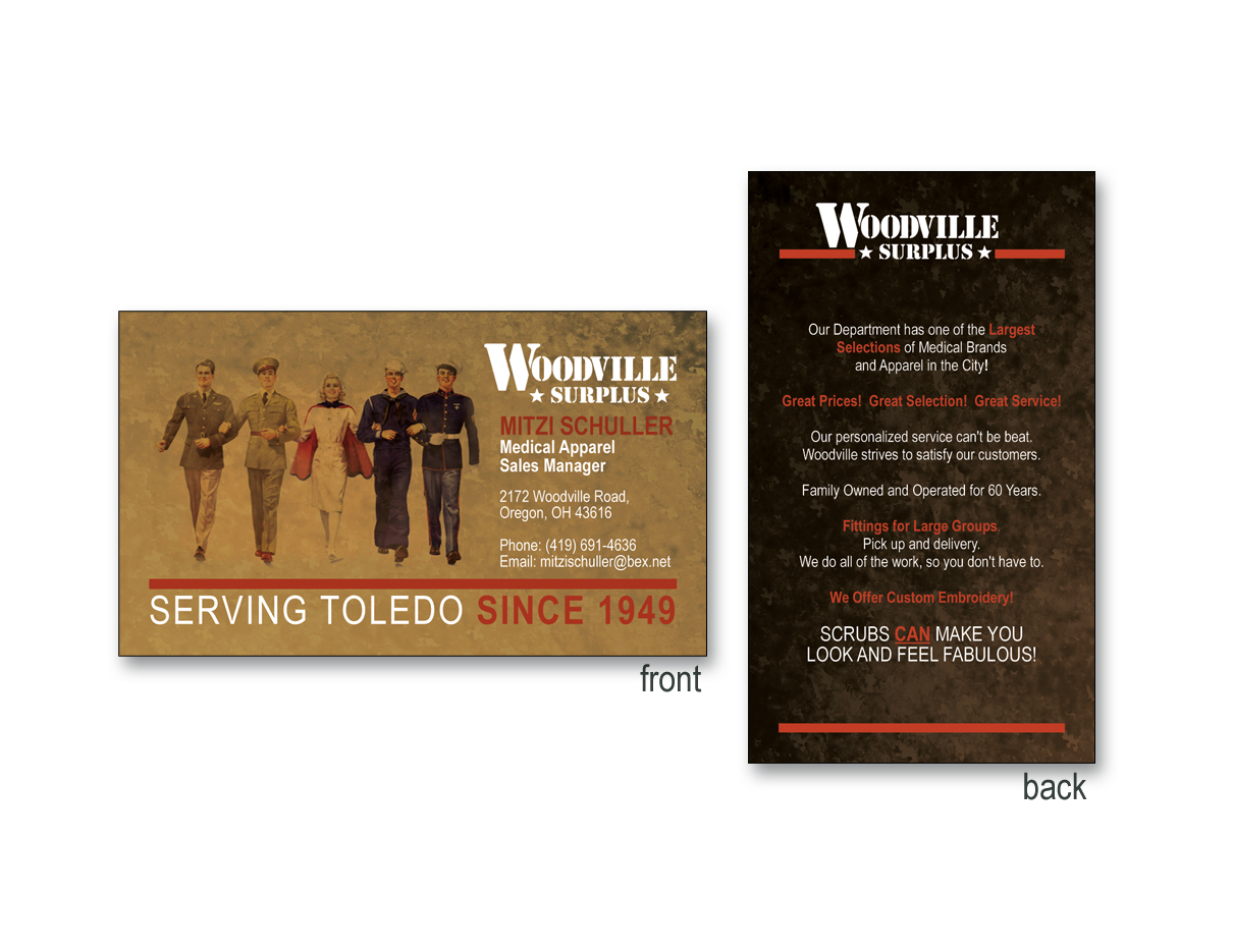 Woodville Surplus Business Card