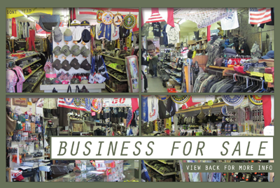 Business for Sale! Army Navy Store in Cleveland, Ohio Area